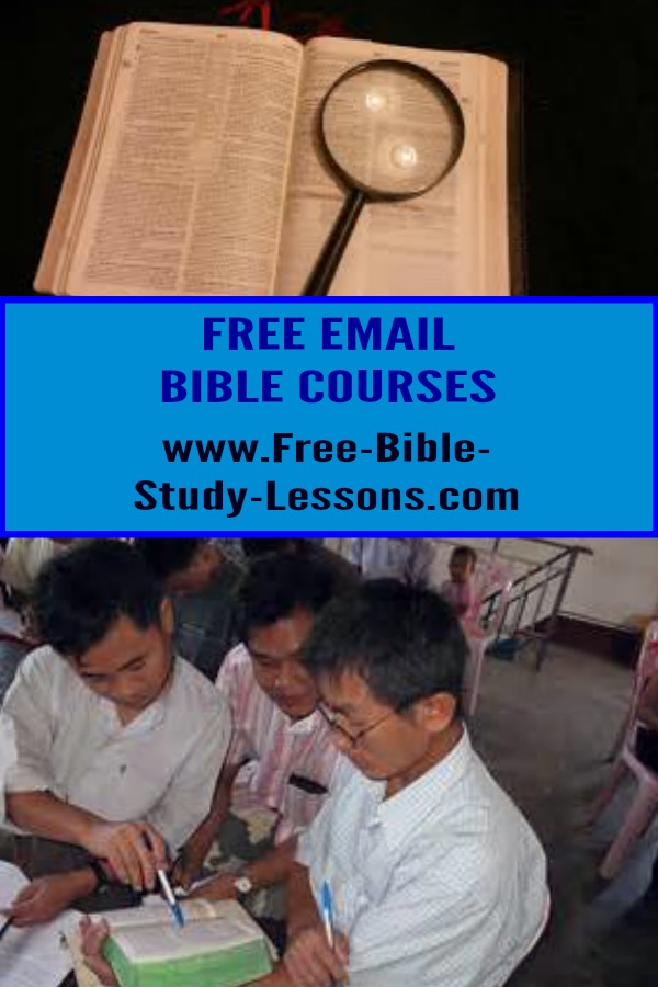 Our free email courses cover a wide variety of topics from the Scriptures.  Check out our growing selection.  #biblestudy #biblecourses #learnthebible #freebiblestudylessons