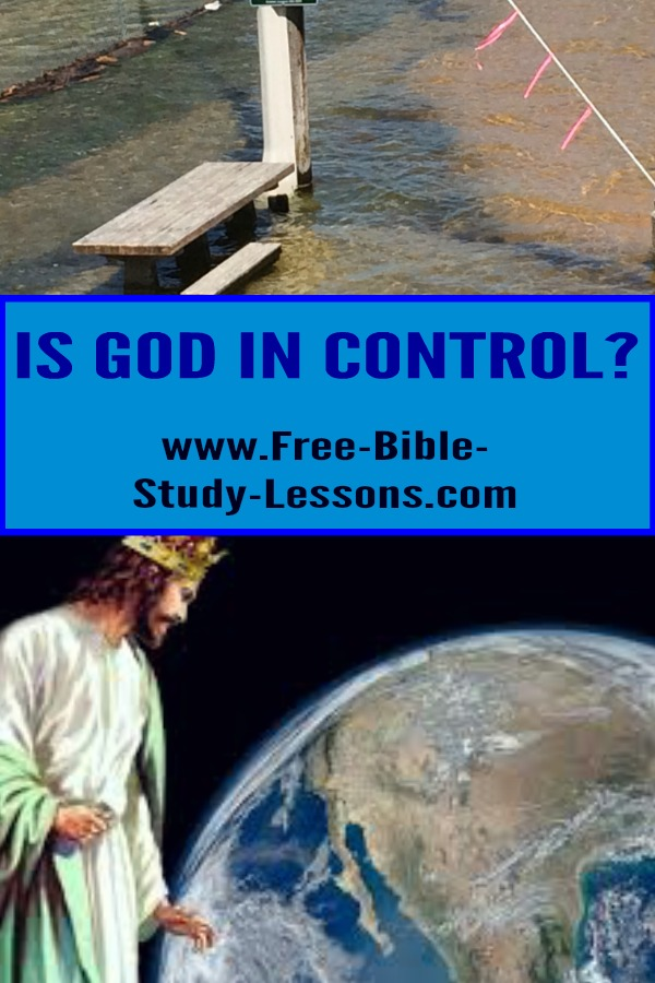 Is God in control of our lives and this planet even when it doesn't feel like it?  He is!  He has a good long range plan.  #Godisincontrol #bible #God #christianity