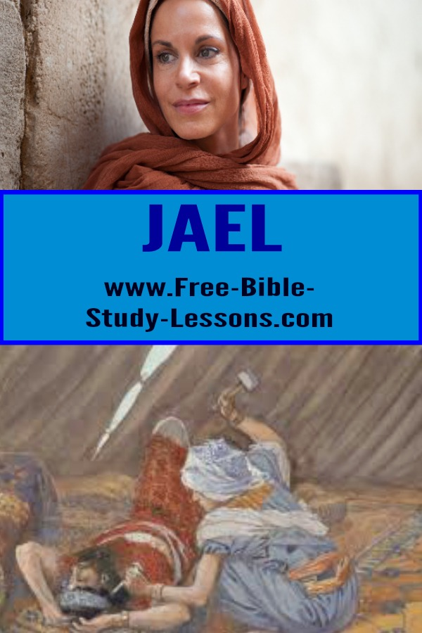 Jael was God's assassin.  Learn lessons from her life and actions. #jael #biblicalwomen #womenofthebible #biblestories
