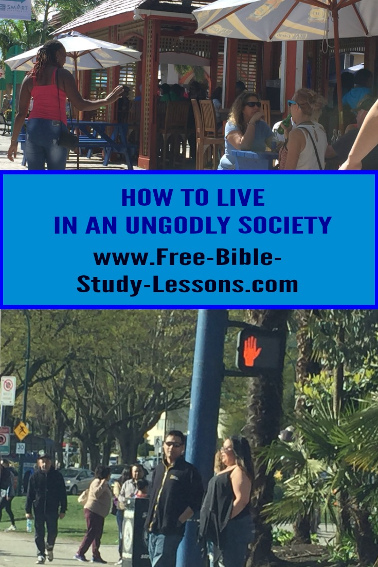 How are Christians to live in an unGodly society?  What are we supposed to do and how are we supposed to act?  What does the Bible teach us? #society #christianlife #family #christianity