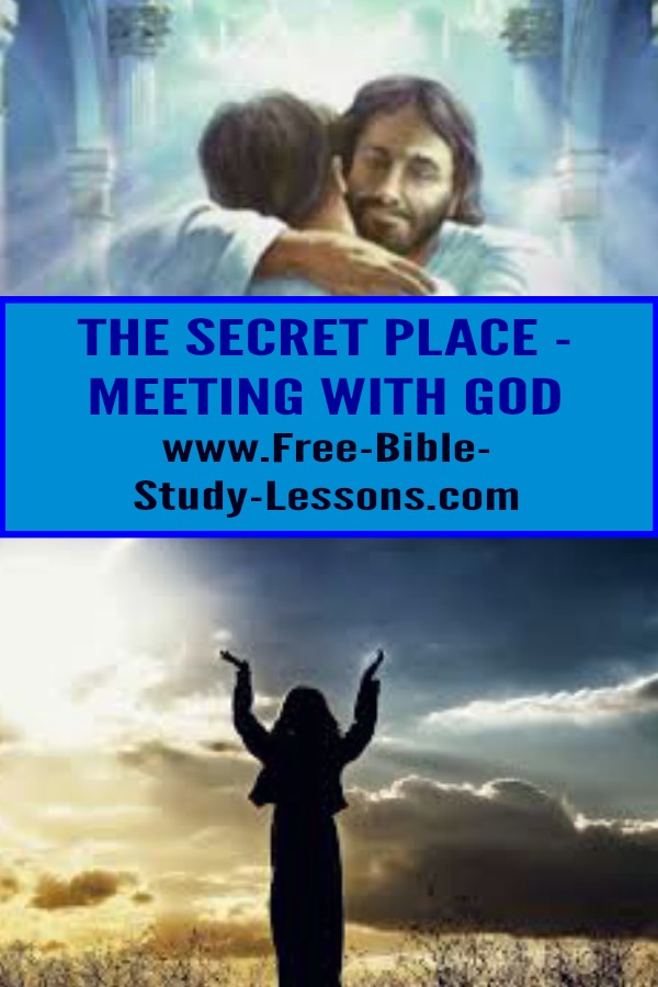 Our secret place can be any place where we can meet alone with Jesus.