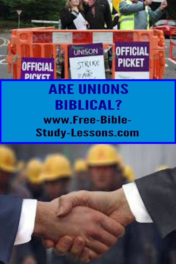 What are the Biblical principles that apply to unions?