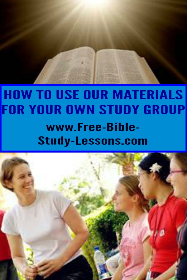 Instructions on how you can turn our material into free printable Bible study lessons.