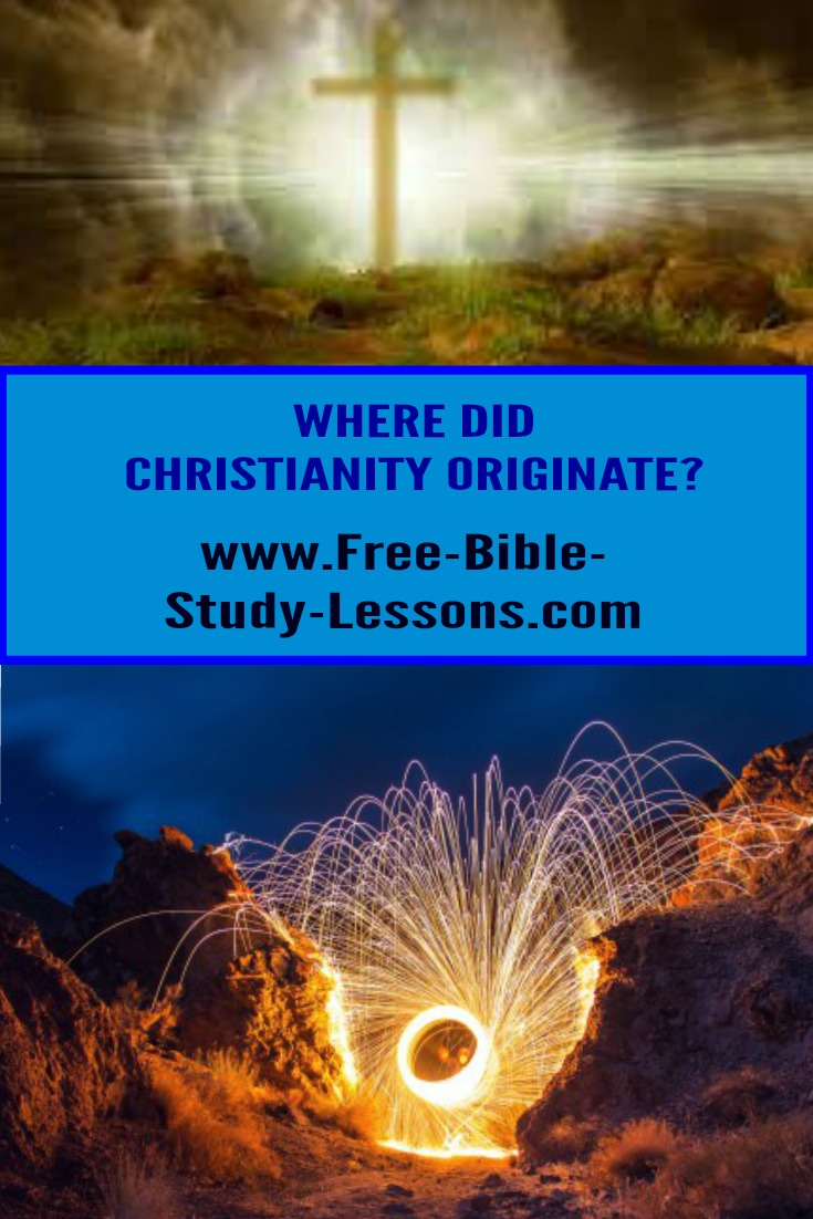Where did Christianity originate?  It had its roots way back before time even began...