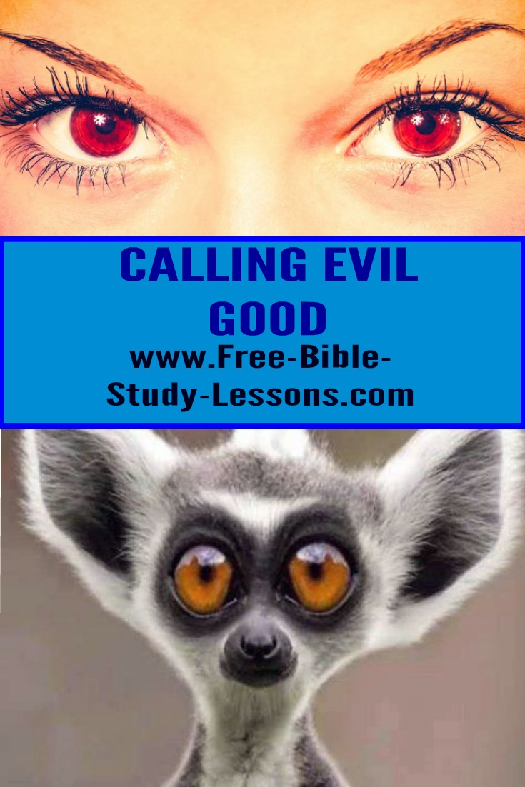 Evil is good and good is evil is the oldest lie, but still a very effective one.