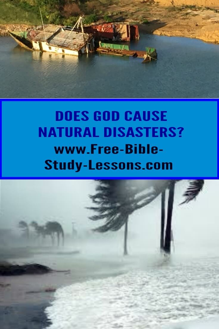 Does God cause natural disasters?  If He is all-powerful and all-wise, why do these things happen? #christianity #naturaldisasters #christianlife #helpingothers