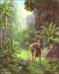 Adam and Eve cast out of Eden.
