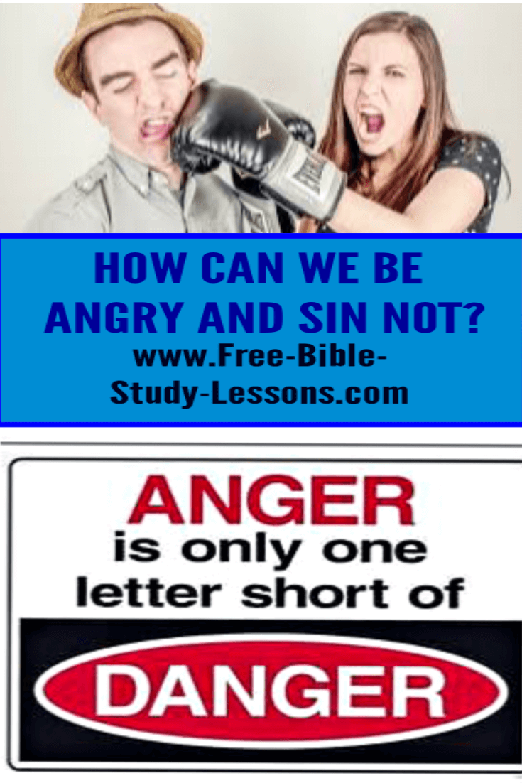 We need to learn to control just anger and avoid unjust anger.  Not an easy assignment!