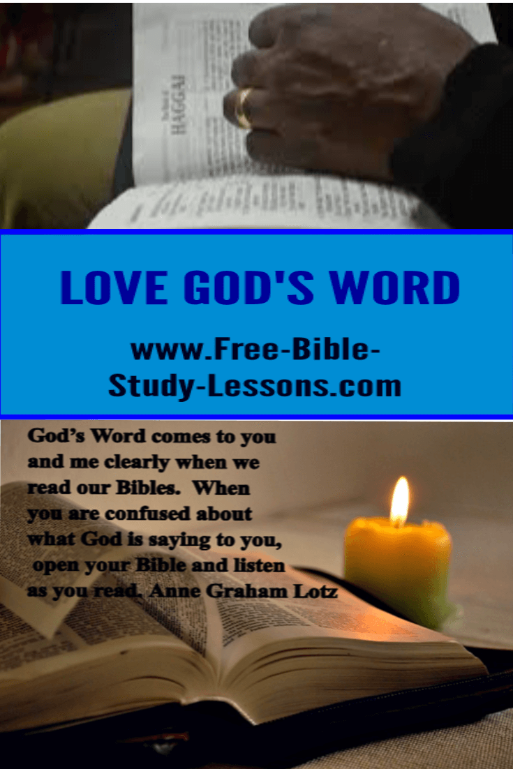All the great men and women of God have a love for his Word.  We need to make time to study and learn it.
