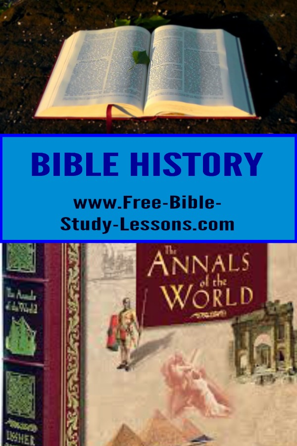 Bible History is an on-going project of chronology from the creation of the world to AD 100.