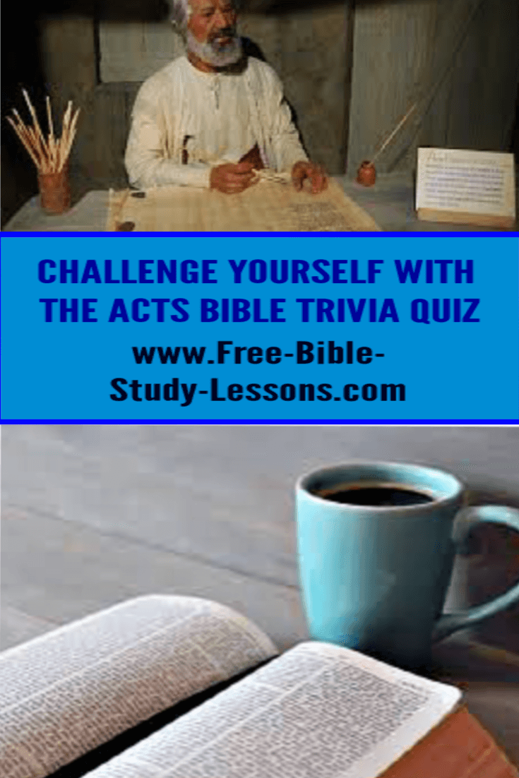 Expand your knowledge and have fun with our Bible Trivia Acts Treasure Hunt.  Do you really know the Book of Acts?