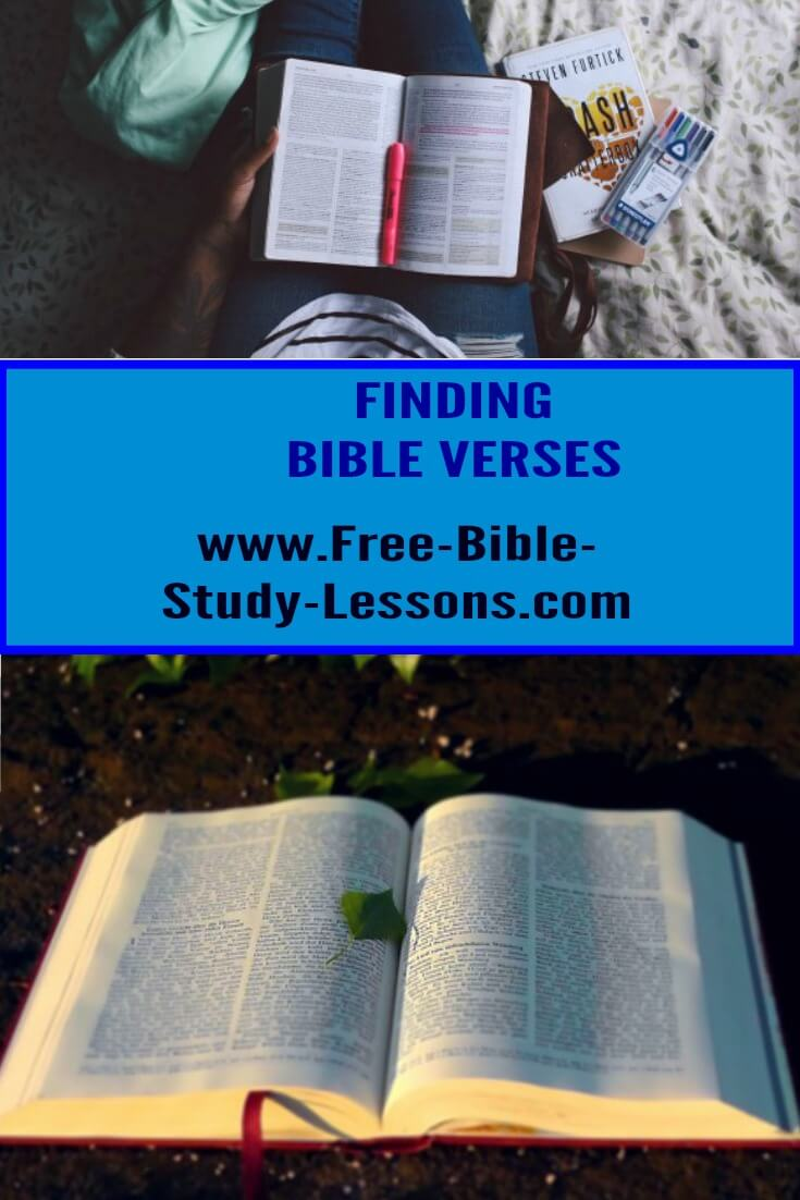 Finding particular Bible verse can be challenging.  Use these tips and beware of these cautions.