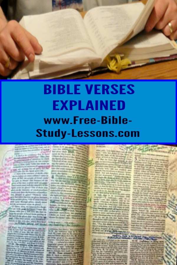 This page is a growing commentary on various Bible verses.  Gain instruction, inspiration and motivation from God's Word. #biblecommentary #bibleexplained #bible #scripture