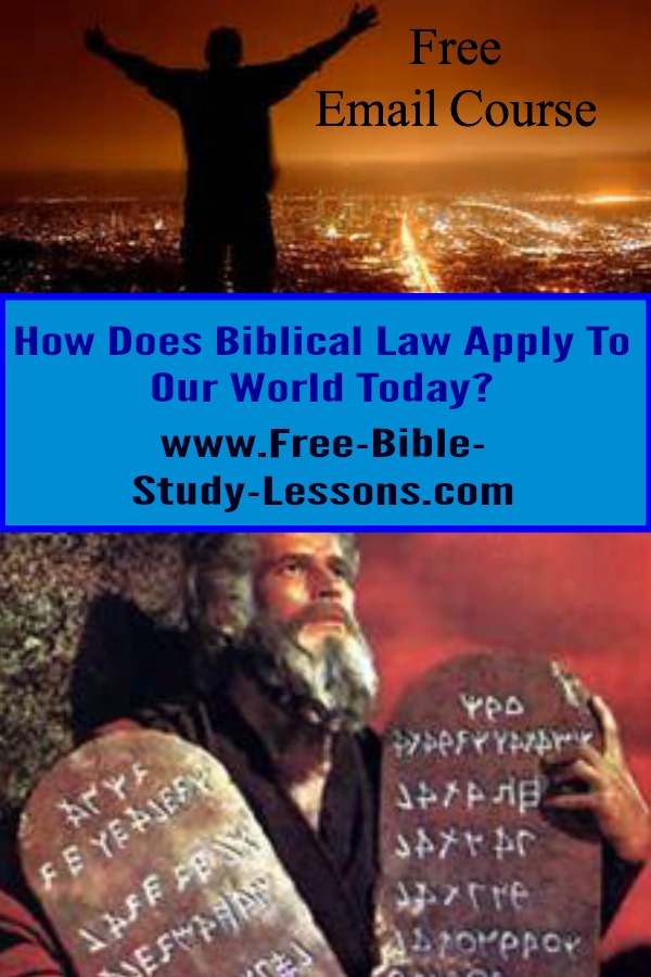 Biblical law may seem dusty and inapplicable to our society today, but, in reality, it shows the only way to master life.