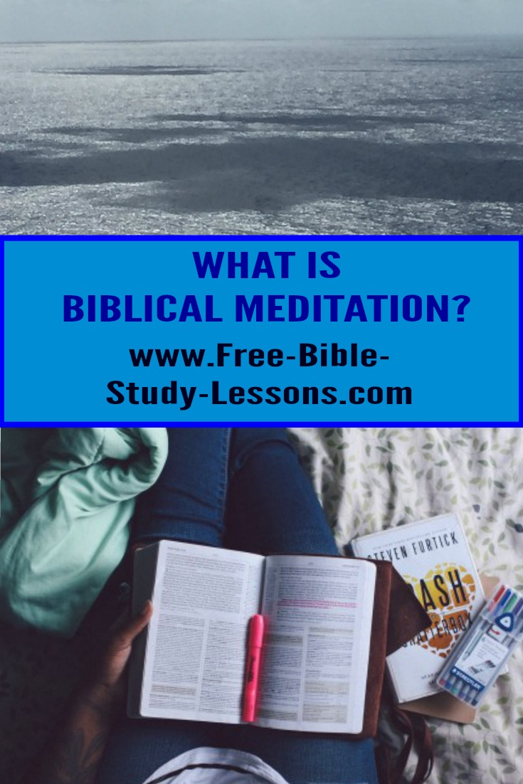 There are a lot of ideas on the subject of meditation most of which come from eastern religions.  What is true Biblical meditation? #meditation #bible #knowGod #christianlife