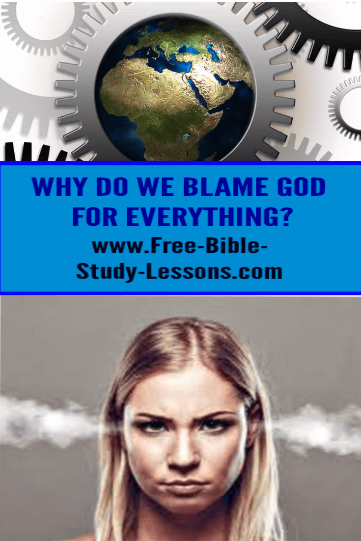 People tend to blame God for bad things, but they fail to credit Him with good things.