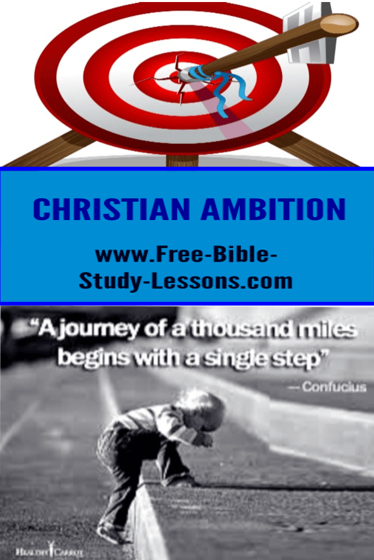 What should Christians be ambitious about?