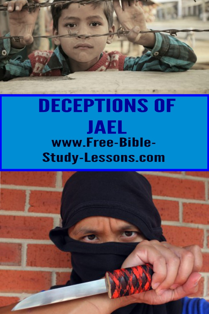 The deceptions of Jael led to the deliberate death of a man under her care.  She was right in what she did? #Jael #biblicalwomen #deception #war