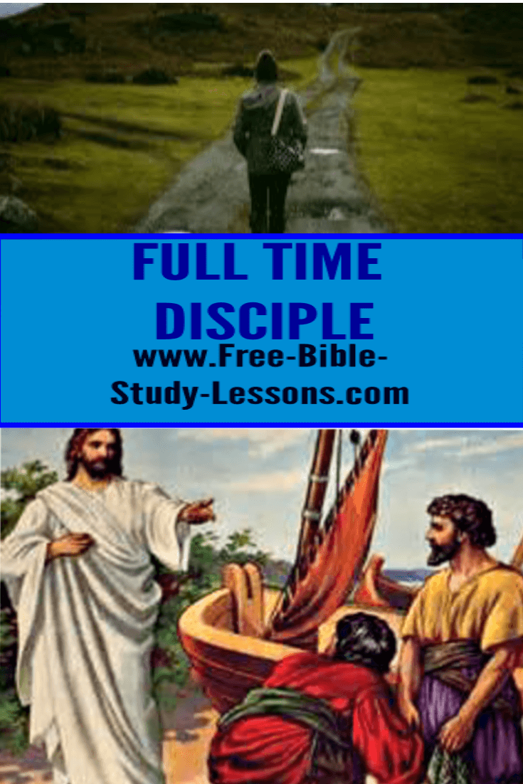 Jesus wants us to be full time disciples no matter what we do in life.