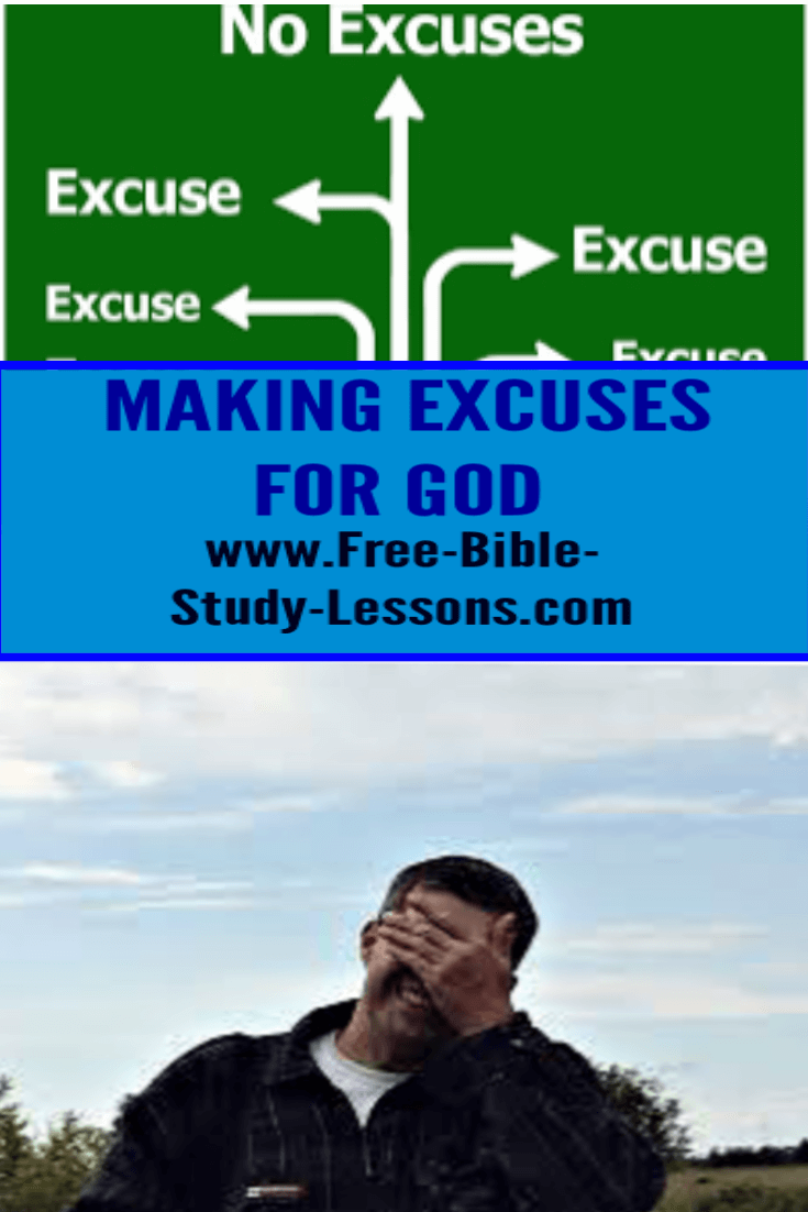 Christians make excuses for God when they are embarrassed by other people.