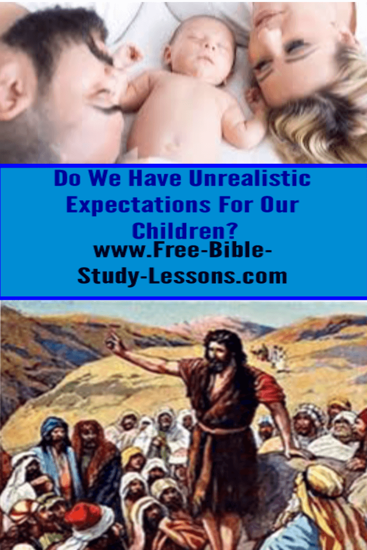 Unfair expectations for our children try to force them into a mold of our own making.