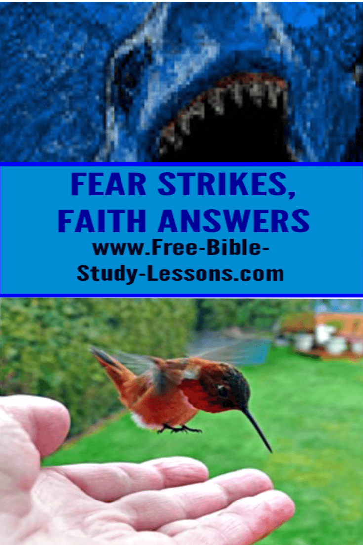 Fear can strike at our hearts, but we need to let faith answer.
