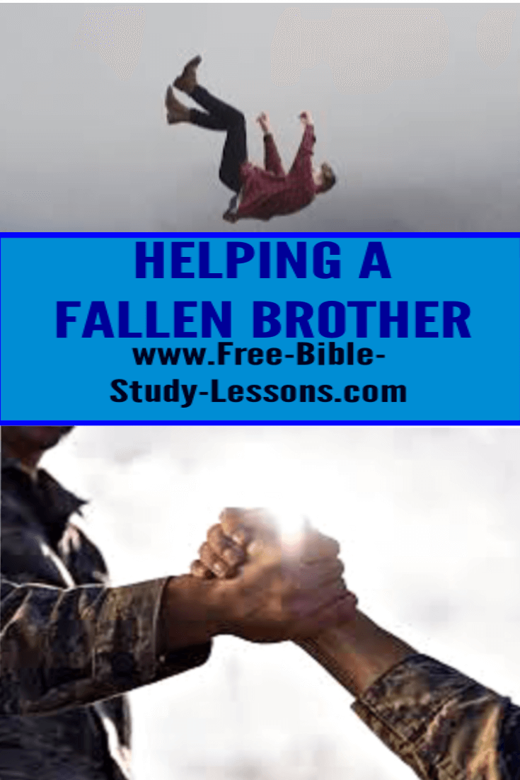 We work with a fallen brother to help to to restoration.