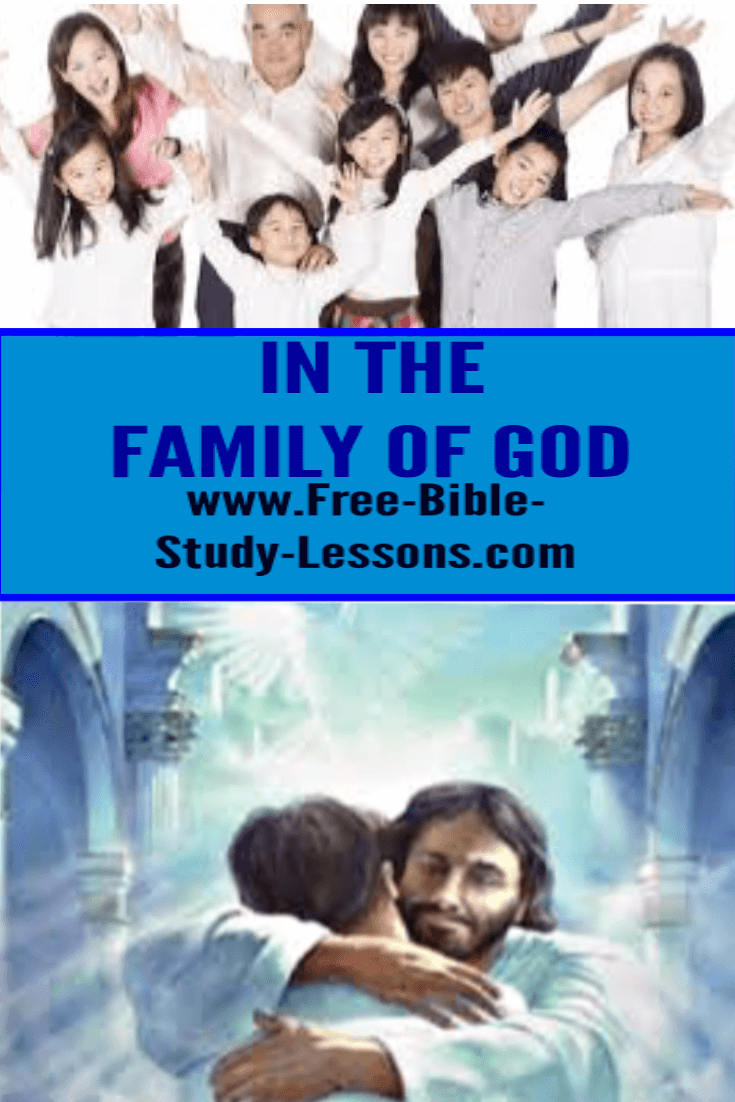 God has placed us in the Family of God because of the good pleasure of His will.