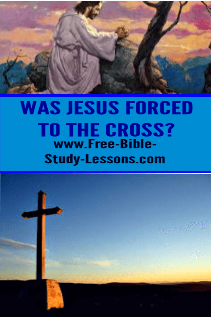 Jesus was not forced to go the the Cross.  It was His choice.