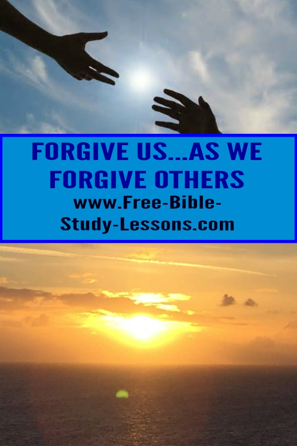 Forgive us our sins as we forgive the sins of others is one of the requests found in the Lord's Prayer.