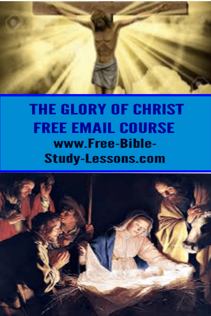 The Glory Of Christ is a free email course on the Person and Ministry of Jesus Christ.