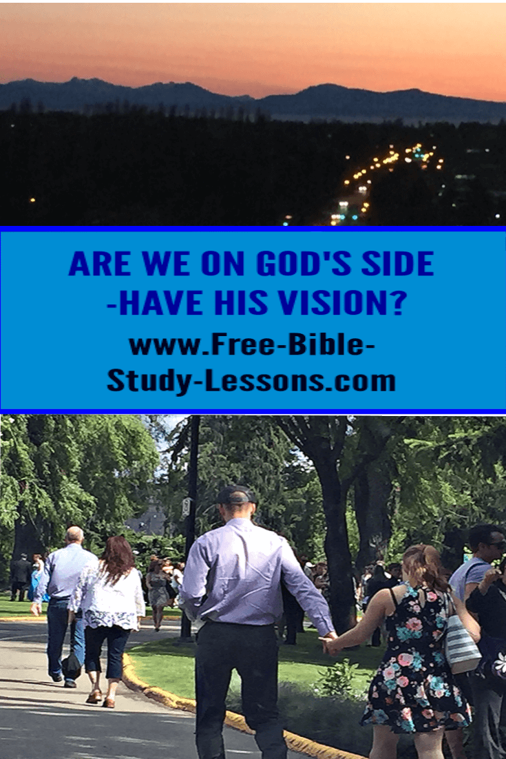 Are we for God only when it benefits us or are we on God's side all the time?