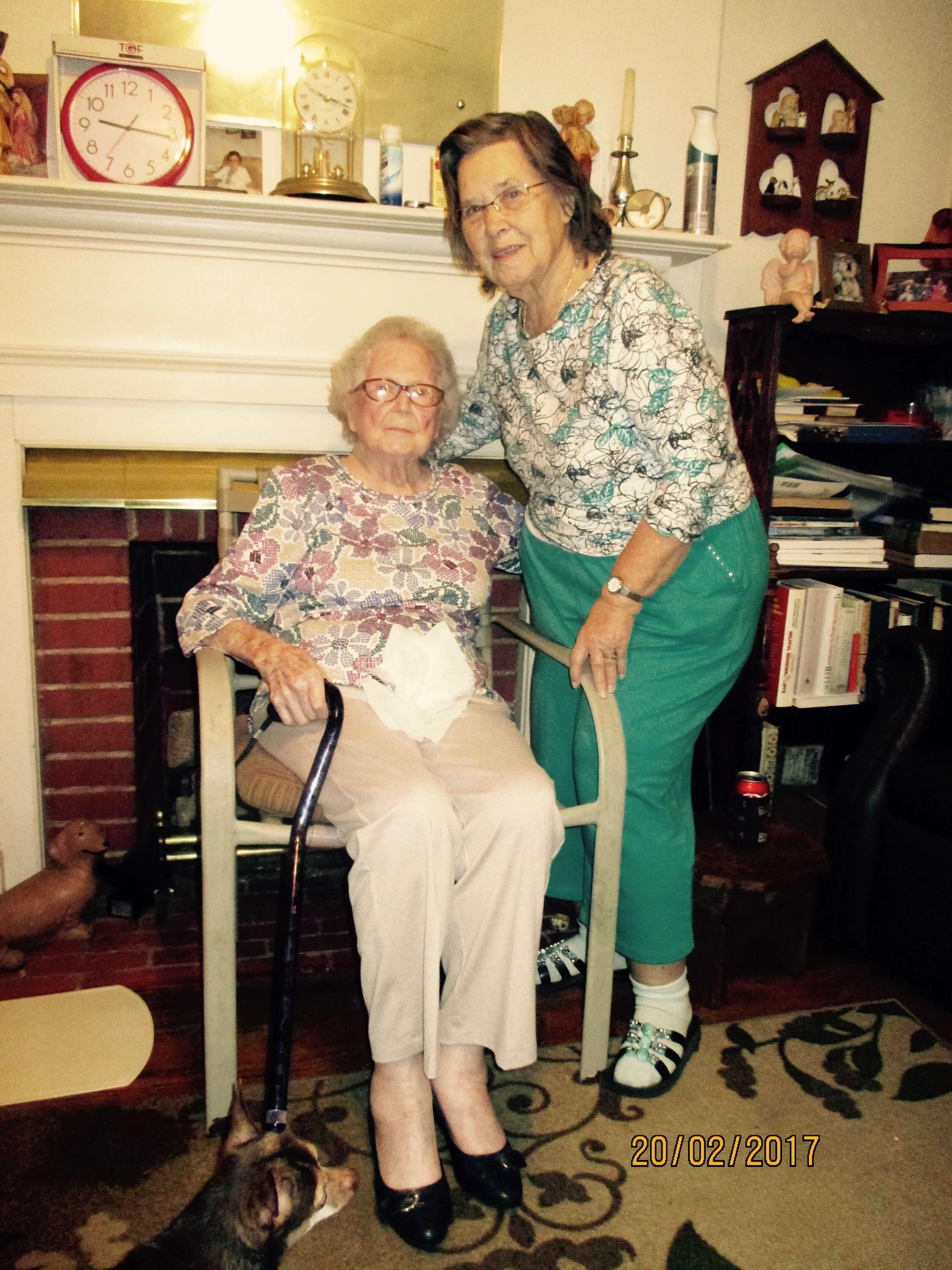 Mrs. Mary-Etta Freeman with Mrs. Shirley Davis, a life-long friend.