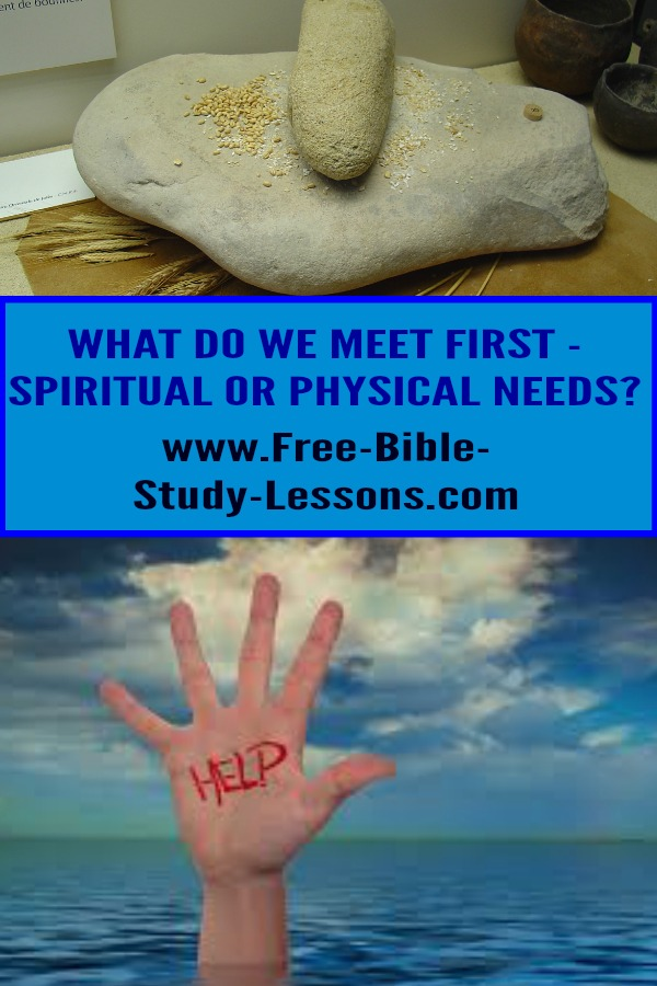 When dealing with people, are spiritual needs or physical needs most important?