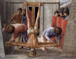 Peter crucified upside down