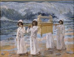 ark crossing Jordan with the second generation Israelites