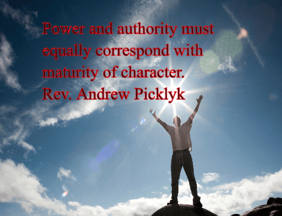 maturity of character - andrew picklyk