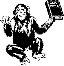 monkey with Bible